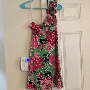 Lilly Pulitzer One Shoulder Whinnie Dress